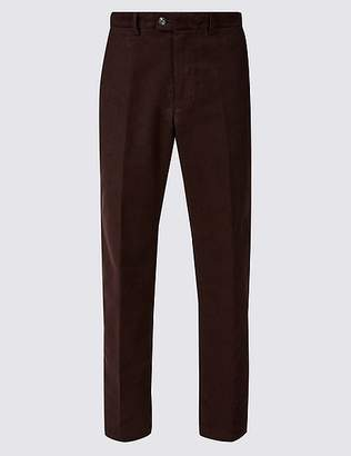 Marks and Spencer Regular Fit Italian Moleskin Chinos