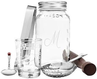 Cathy's Concepts Cathys Concepts 6 Piece Personalized Mason Jar Mixology Set