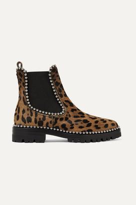Alexander Wang Spencer Studded Leopard-print Calf Hair Chelsea Boots