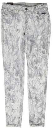 Bleu Lab Bleulab Printed Low-Rise Jeans