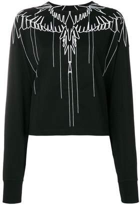 Marcelo Burlon County of Milan wings embroidered sweatshirt