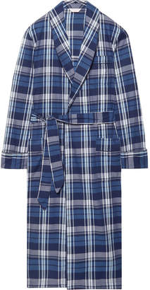 Derek Rose Ranga 31 Checked Cotton Robe