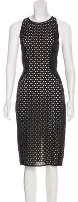 Tamara Mellon Midi Eyelet Dress