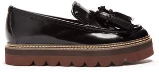 See by Chloe Tassel leather flatform loafers
