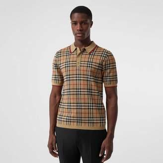Burberry Vintage Check Merino Wool Polo Shirt