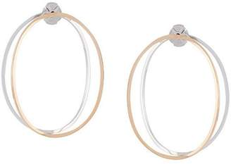 Delfina Delettrez 14kt gold twisted hoop earrings