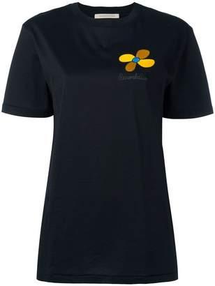Christopher Kane embroidered flower T-shirt