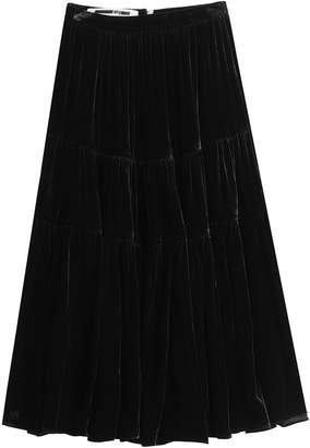 McQ Velvet Midi Skirt with Silk
