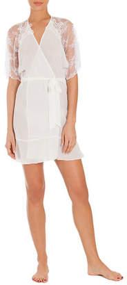 Jonquil Mist Lace-Sleeve Wrap