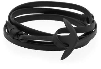 Miansai Black Anchor Leather Bracelet