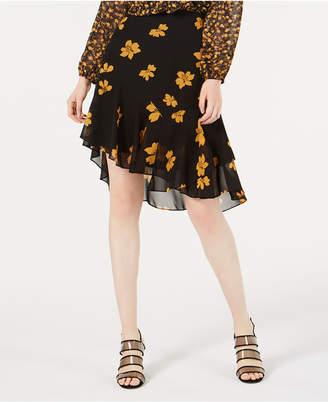 Bar III Ruffled Asymmetrical Skirt