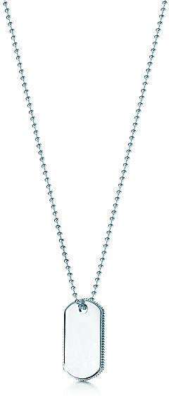 Tiffany & Co. Coin Edge Tag Pendant