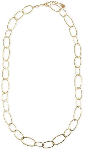 R.J. Graziano Long Oval-Link Necklace, Gold