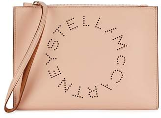 Stella McCartney Stella Logo Blush Clutch