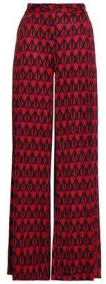 Diane von Furstenberg Stanton Printed Silk Wide-leg Pants
