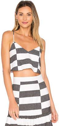 Mara Hoffman Crop Cami in Black & White $190 thestylecure.com