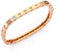 Roberto Coin Pois Moi Diamond& 18K Rose Gold Single-Row Bangle Bracelet