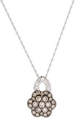 Le Vian 14K Brown & White Diamond Flower Necklace $875 thestylecure.com