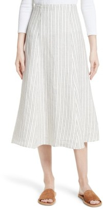 Women's Theory Zimri Stripe Linen Skirt $275 thestylecure.com