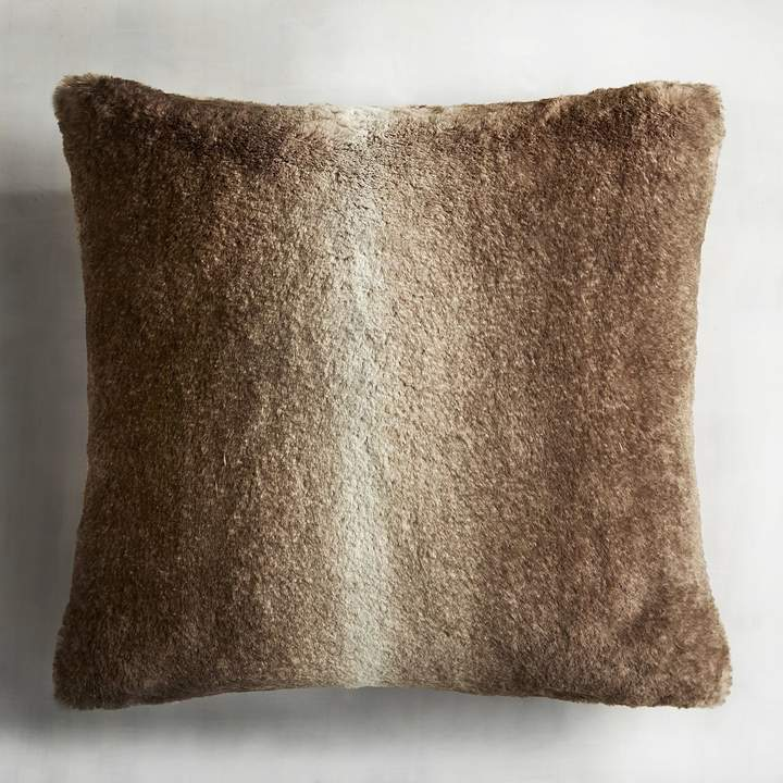 Ombre Faux Fur Sable Pillow