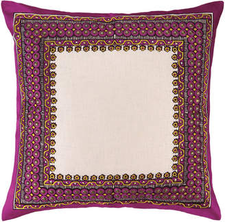 Trina Turk Terranea Embroidered Pillow Purple