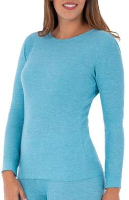 Fruit of the Loom Women's Waffle Thermal Underwear Crew Top