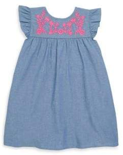 Design History Toddler's& Little Girl's Cap-Sleeve Floral Dress
