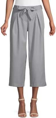 Jones New York Striped Wide-Leg Cropped Pants
