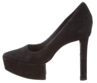 Theyskens' Theory Pointed-Toe Platform Pumps