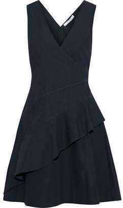 Derek Lam 10 Crosby Wrap-Effect Ruffled Cotton-Poplin Mini Dress