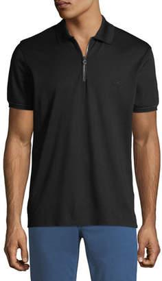 Salvatore Ferragamo Men's Zip Polo Shirt