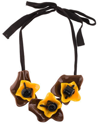 Marni Marni Resin Floral Strand Necklace