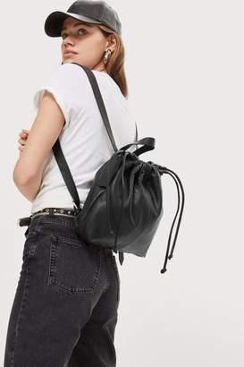 Topshop Leather Drawstring Backpack