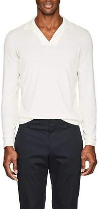 Loro Piana Men's Knit Cotton Polo Shirt