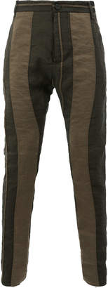 Masnada striped skinny trousers