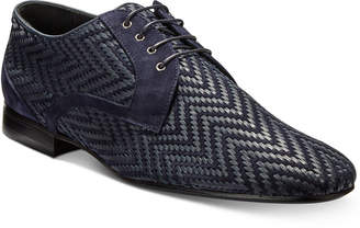 Roberto CavalliMen's Woven Chevron Oxfords Men's Shoes mfpbR50L