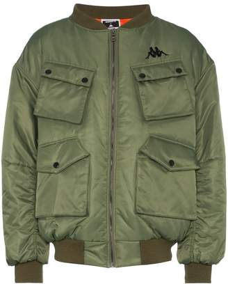 Charm's logo embroidered pocket detail bomber jacket