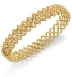 Roberto Coin Barocco Diamond& 18K Yellow Gold Bangle
