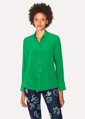 Paul Smith Women's Green Silk Shirt
