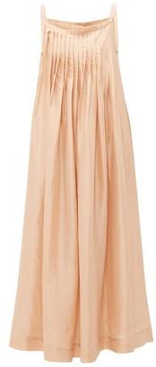 Loup Charmant Salinas Pleated Silk Dress - Womens - Beige
