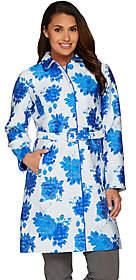 Isaac Mizrahi Live! Special Edition FloralJacquard Coat