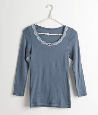 ファッション8分袖インナー(C・スモーキーブルー)