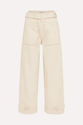 Thierry Mugler High-rise Wide-leg Jeans - White