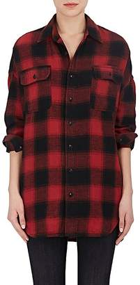 R13 Women's Checked Cotton Twill Oversized Shirt