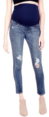 Women's Ingrid & Isabel Sasha Maternity Skinny Jeans With Crossover Panel(TM) $118 thestylecure.com