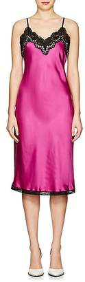 Alexander Wang Women's Grommet-Embellished Satin Slipdress - Pink