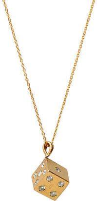One Kings Lane Vintage 9K Gold Diamond Dice Necklace - Maeven