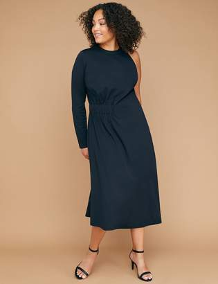 Lane Bryant One-Sleeve Asymmetrical Hem Maxi Dress