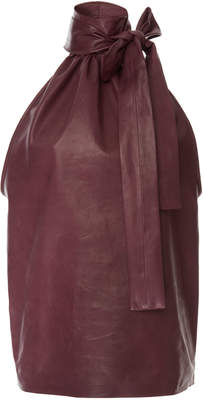 Rochas Turtleneck Top In Leather