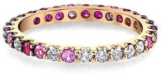 SHAY Diamond and Ruby Eternity Band Ring - Rose Gold